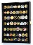 Custom Medium challenge coin display cabinet 18