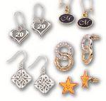 Custom Gold or Silver Plated Brass Earrings