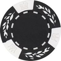Closeout: 11.5 gram clay no metal insert black poker chips - Blank
