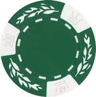 Closeout: 11.5 gram clay no metal insert green poker chips - Blank