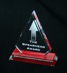 Custom Beveled Glitter Arrow Award