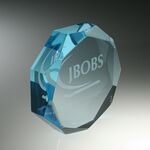Custom Faceted Octagon Paperweight (3