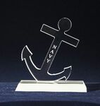 Custom Frosted Anchor Award (5-1/2