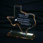 Custom Texas State Award w/Lumiglaze Accent (8 3/4