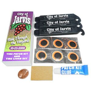 Custom Printed Bicycle Tire Tube Patch Kits!