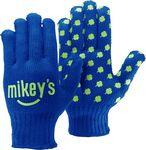 Custom Royal Blue Knit Gloves w/Step & Repeat Imprint