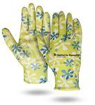 Custom Flower Print Palm Dipped Gloves