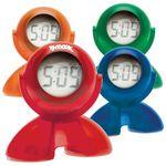 Custom Swivel Head Bubble Clock