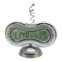FM Scanner Radio & Alarm Clock w/ Weather Station