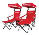 Custom Folding Chairs w/ Canopy & Cooler w/ Speakers