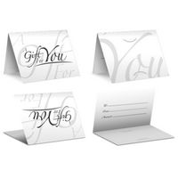 Italic White - PrePrinted Card Carriers