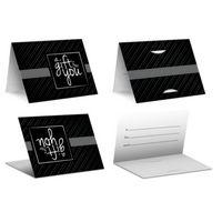Black Stripe - PrePrinted Card Carriers