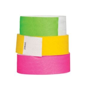 "Stock Solid Tyvek Event Wristband (3/4"")"
