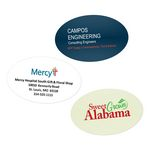 Custom Water Resistant Oval Custom Stickers (1.5