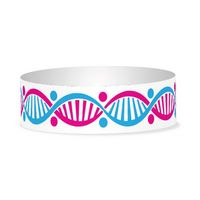 """Preprinted 1"""" DNA Tyvek Bands"""