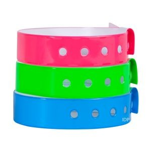 Stock L-Shaped Vinyl Wristbands