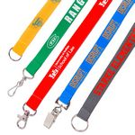 The Solution Flat Polyester Lanyard