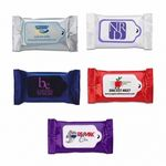 Custom 10 Count Biodegradable Hand Cleansing Wipes Made in Europe