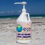 Custom SPF30 100% All Natural Sunscreen Lotion (1/2 Gallon) w/ Pump Dispenser USA Made