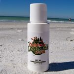 Custom 2 Oz. SPF30 Sunscreen (Boston Round Bottle) USA MADE
