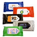 Custom 10 Count Antibacterial Sanitizer Wipes Resealable Soft Pack Made in China