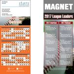 Detroit Pro Baseball Schedule Magnet (3 1/2