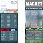 Custom Philadelphia Pro Football Schedule Magnet (3 1/2
