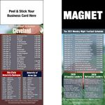 Cleveland Pro Football Schedule Peel & Stick Magnet (3 1/2
