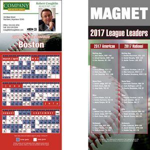 Boston Pro Baseball Schedule Magnet (3 1/2x8 1/2)