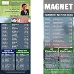 Detroit Pro Football Schedule Magnet (3 1/2