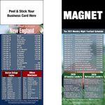 New England Pro Football Schedule Peel & Stick Magnet (3 1/2