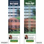 Custom New England Pro Football Schedule Bookmark (2 1/4