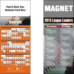 Peel and Stick Detroit Pro Baseball Schedule Magnet (3 1/2