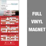 Cincinnati Pro Baseball Schedule Vinyl Magnet (3 1/2