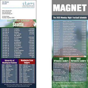 Seattle Football Schedule Magnet (3 1/2x8 1/2)