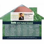 Custom Seattle Pro Football Schedule House Shape Magnet (5