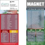 Atlanta Pro Football Schedule Magnet (3 1/2