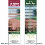 Custom San Francisco Pro Football Schedule Bookmark (2 1/4