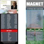 Oakland Pro Football Schedule Magnet (3 1/2