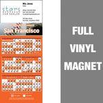 Custom San Francisco Pro Baseball Schedule Vinyl Magnet (3 1/2