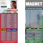 Kansas City Pro Football Schedule Magnet (3 1/2