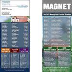 Custom Dallas Pro Football Schedule Magnet (3 1/2