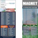 Buffalo Pro Football Schedule Magnet (3 1/2