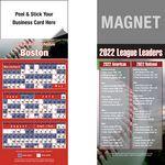 Peel and Stick Boston Pro Baseball Schedule Magnet (3 1/2