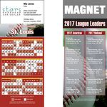 St. Louis Pro Baseball Schedule Magnet (3 1/2