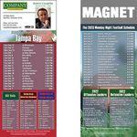 Custom Tampa Bay Pro Football Schedule Magnet (3 1/2