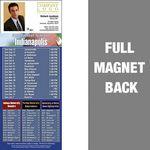 Indianapolis Pro Football Schedule Vinyl Magnet (3 1/2