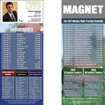 Indianapolis Pro Football Schedule Magnet (3 1/2