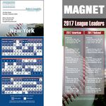 New York (National) Pro Baseball Schedule Magnet (3 1/2