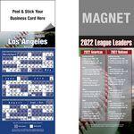 Custom Peel & Stick Los Angeles (NL) Pro Baseball Schedule Magnet (3 1/2